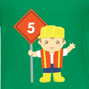 construction builder boy Kids' Shirts - Kids' Premium T-Shirt
