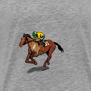 Horse Jockey - Men's Premium T-Shirt