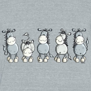 Funny Donkey - Animal T-Shirts - Unisex Tri-Blend T-Shirt by American Apparel