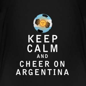 Keep Calm and Cheer On Argentina - Kids' Premium T-Shirt