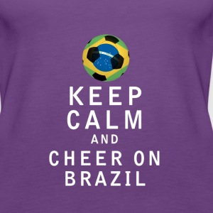 Keep Calm and Cheer On Brazil - Women's Premium Tank Top
