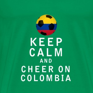 Keep Calm and Cheer On Colombia - Men's Premium T-Shirt