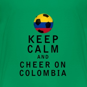 Keep Calm and Cheer On Colombia - Kids' Premium T-Shirt