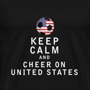 Keep Calm and Cheer On United States - Men's Premium T-Shirt