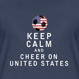 Keep Calm and Cheer On United States - Women's Premium T-Shirt