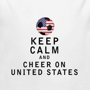 Keep Calm and Cheer On United States - Long Sleeve Baby Bodysuit