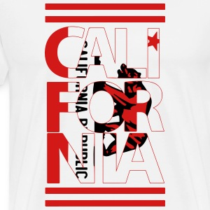 California Flag Bear T-Shirts - Men's Premium T-Shirt