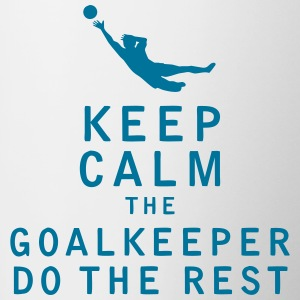Keep Calm the Goalkeeper Do The Rest - Contrast Coffee Mug