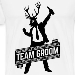 Team Groom / Stag Party (1C) T-Shirts - Men's Premium T-Shirt