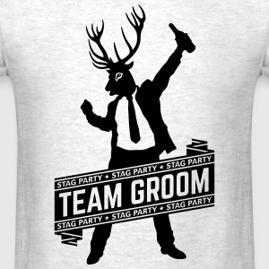 Team Groom / Stag Party (1C) T-Shirts - Men's T-Shirt