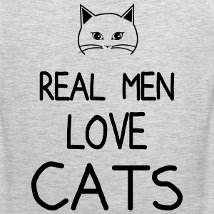 real men love cat Men - Men's Premium Tank