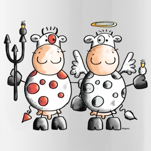 Devil Vs. Angel Cow - Cows Bottles & Mugs - Water Bottle