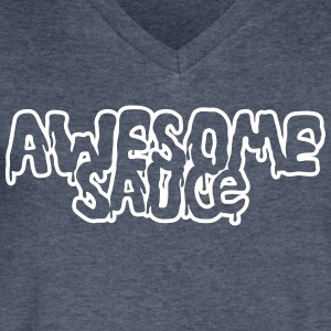 Awesomesauce T-Shirts - Men's V-Neck T-Shirt by Canvas