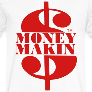MONEY MAKIN T-Shirts - Men's V-Neck T-Shirt by Canvas