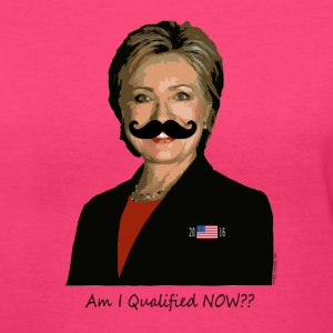 Am I qualified NOW?? Women's T-Shirts - Women's V-Neck T-Shirt