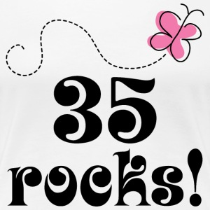 35th Birthday 35 Rocks Women's T-Shirts - Women's Premium T-Shirt
