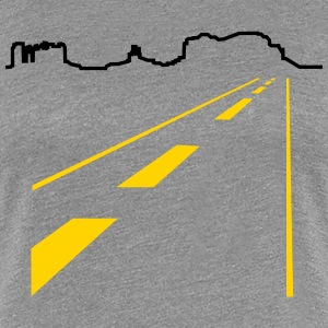 Arizona Monument Valley, mountains line (1c) Women's T-Shirts - Women's Premium T-Shirt