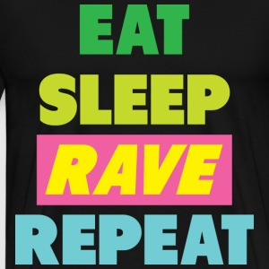 Eat keep Rave Repeat - Men's Premium T-Shirt