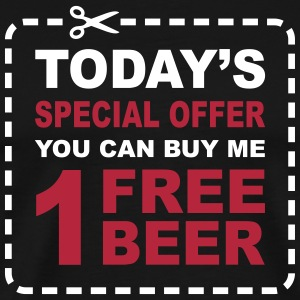 Free Beer - Special Offer Coupon T-Shirts - Men's Premium T-Shirt