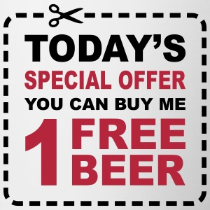 Free Beer - Special Offer Coupon Bottles & Mugs - Contrast Coffee Mug