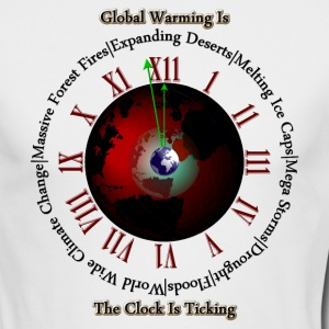 Global Warming - Times Up Mens Long Sleeve T-Shirt - Men's Long Sleeve T-Shirt by Next Level