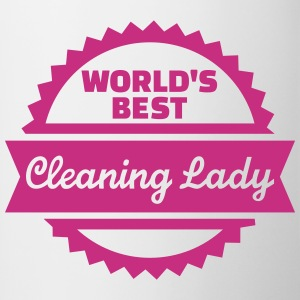 World's Best Cleaning lady Bottles & Mugs - Contrast Coffee Mug