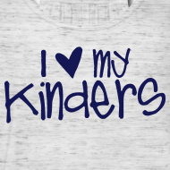 Design ~ Love My Kinders | Navy | Teacher Shirts