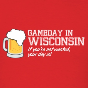 Gameday in Wisconsin - Men's T-Shirt