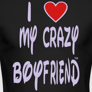 I LOVE MY CRAZY BOYFRIEND Long Sleeve Shirts - Men's Long Sleeve T-Shirt by Next Level
