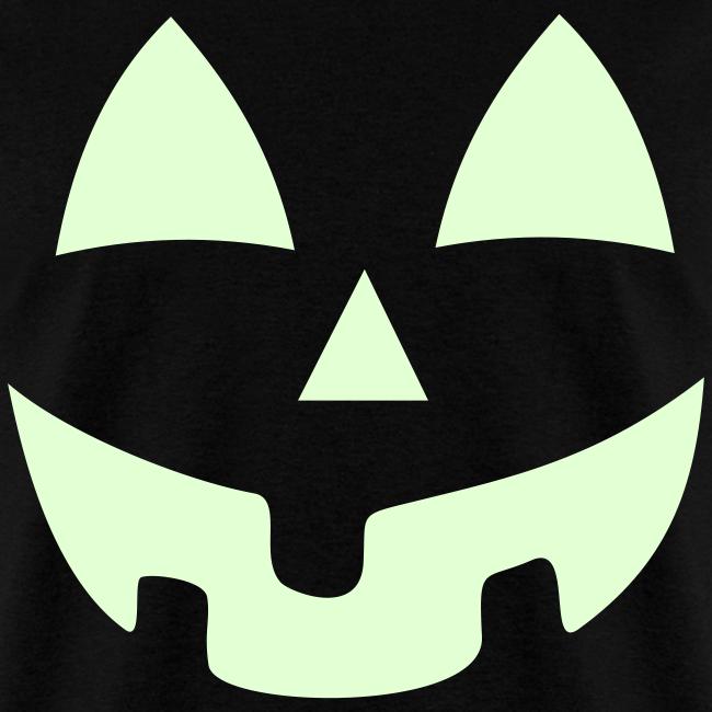Halloween Jack-O-Lantern Pumpkin Face Shirt Costume Glow In the Dark