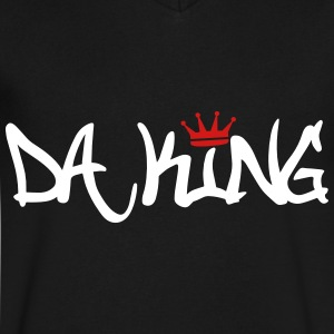 Da King T-Shirts - Men's V-Neck T-Shirt by Canvas