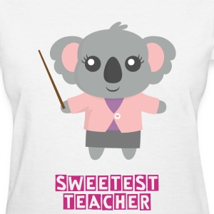 Cute Koala Bear Teacher Women's T-Shirts - Women's T-Shirt