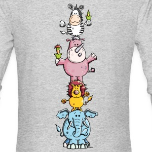 Funny Animal Circus - Zoo Long Sleeve Shirts - Men's Long Sleeve T-Shirt by Next Level
