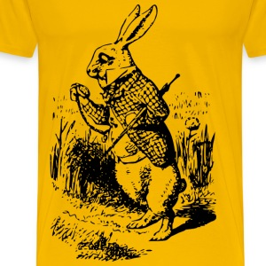 Alice In Wonderland white rabbit - Men's Premium T-Shirt
