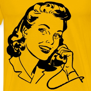 Lady Speaking on Phone - Men's Premium T-Shirt