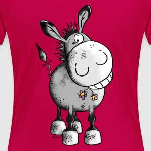 Happy Donkey - Animal Women's T-Shirts - Women's Premium T-Shirt