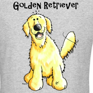Happy Golden Retriever - Dog - Dogs Long Sleeve Shirts - Men's Long Sleeve T-Shirt by Next Level