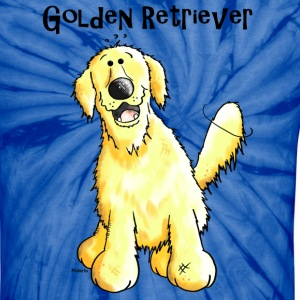Happy Golden Retriever - Dog - Dogs T-Shirts - Unisex Tie Dye T-Shirt