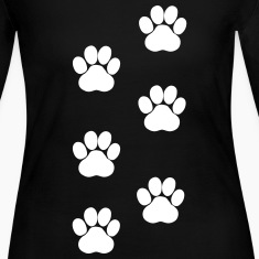 Paws, Pawprints Long Sleeve Shirts