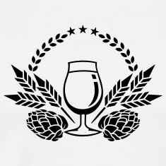 beer glass, hops and malt (1c) T-Shirts