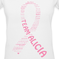 Design ~ Team Alicia - V-Neck Woman's Tee