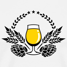 beer glass, hops and malt (3c) T-Shirts