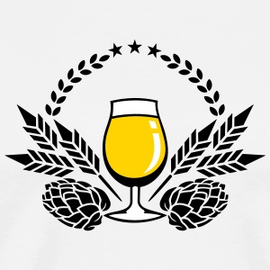 beer glass, hops and malt (3c) T-Shirts - Men's Premium T-Shirt