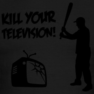 Kill Your Television - Against Media dumbing T-Shirts - Men's Ringer T-Shirt