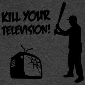 Kill Your Television - Against Media dumbing T-Shirts - Men's V-Neck T-Shirt by Canvas