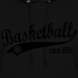 Basketball since 1891 Slogan black Hoodies - Women's Hoodie