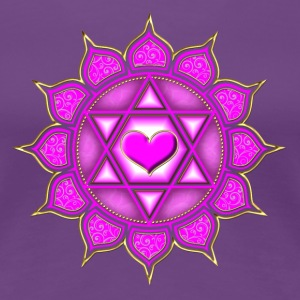 LOTUS OF THE HEART - Heart chakra - Anahata, c, Ce - Women's Premium T-Shirt