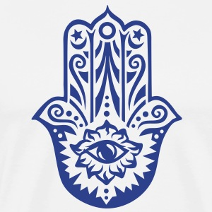 Hamsa Amulet, Hand of Fatima, Divine Protection Ho - Men's Premium T-Shirt
