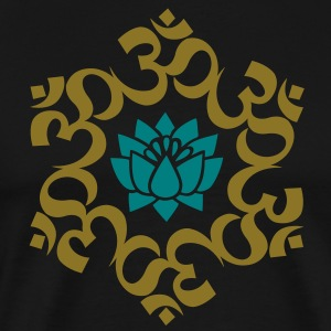 OM Lotus, Meditation, Yoga, AUM, Buddhism Hoodies - Men's Premium T-Shirt