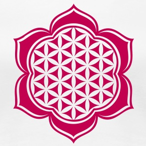 Flower of life, Lotus-Flower, vector 4, c, energy  - Women's Premium T-Shirt